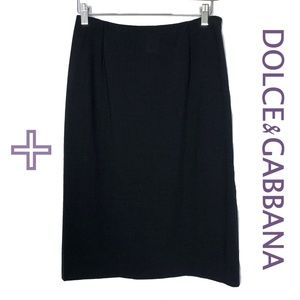 Dolce & Gabbana Designer Pencil Skirt Wool